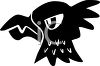 picture of a silhouette of a bald eagle in a vector clip art illustration clipart