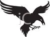 picture of a silhouette of an eagle preparing to attack it's prey in a vector clip art illustration clipart