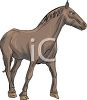 clip art illustration of a horse standing on a white background in a vector clip art illustration clipart