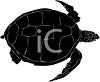 picture of a silhouette of a sea turtle on a white background clipart