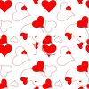 picture of a background of assorted hearts in a vector clip art illustration clipart