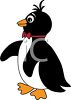 picture of a penguin in a vector clip art illustration clipart