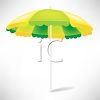 picture of an open umbrella in a vector clip art illustration clipart
