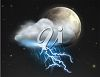 picture of a Lightning storm around the earth in a vector clip art illustration clipart