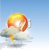 picture of a thunder and lightning storm in a vector clip art illustration clipart