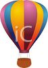 picture of an air balloon in a vector clip art illustration clipart