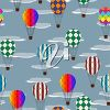 picture of several air balloons flying in the sky in a vector clip art illustration clipart