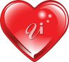 picture of a large heart in a vector clip art illustration clipart