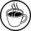 picture of a hot cup of cofffee in a vector clip art illustration clipart