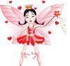 picture of a fairy with red hearts in a vector clip art illustration clipart