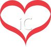 picture of a large red heart in a vector clip art illustration clipart