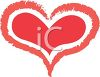 picture of a large red heart with a small red heart in the center in a vector clip art illustration clipart