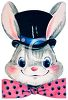 picture of a happy easter bunny in a vector clip art illustration clipart