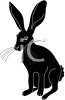 picture of a silhouette of a jack rabbit in a vector clip art illustration clipart
