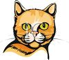picture of a cat's face in a vector clip art illustration clipart