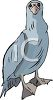 picture of a bird standing in a vector clip art illustration clipart