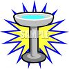 picture of a bird bath with a star background in a vector clip art illustration clipart