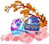 Easter Eggs and Spring Flowers Clipart clipart