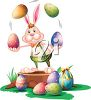 Easter Bunny Juggling Easter Eggs Clipart clipart