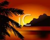 Palm Tree and Sunset Image clipart