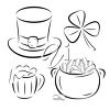 Group of four St. Patricks's Day images clipart