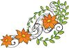 Beautiful Orange Flowers on a Vine clipart