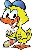 Easter Duckling Cartoon clipart