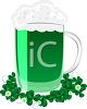St. Patrick's Day Green Beer clipart