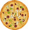 Clipart image of a pepperoni and mushroom pizza. clipart