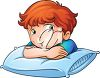 Tired and Upset Cartoon Boy clipart