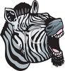 Clipart image of a yawning zebra. clipart