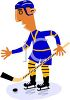 Ice Hockey Player About to Hit the Puck clipart