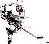 Ice Hockey Player Dribbling the Puck clipart
