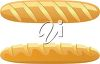 Two Loaves of French Bread clipart