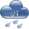 Raincloud with Raindrops clipart