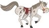 Smiling Cartoon Horse Trotting clipart