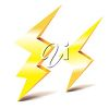 Two Lightning Bolts clipart