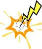 Lightning Bolt Hitting Something clipart