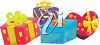 Group of Birthday Presents clipart
