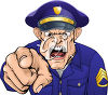 Angry Policeman Pointing his Finger clipart