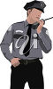 Policeman Talking into His Radio clipart