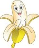 Smiling Banana clipart
