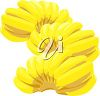 Three Bunches of Bananas clipart