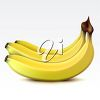 Bunch of Three Bananas clipart
