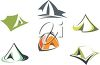 Assorted Camping Tents clipart