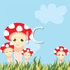 Family of Smiling Mushrooms clipart