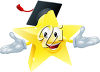 Happy Star Graduating clipart