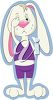Cartoon Rabbit Crying clipart