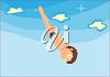 Boy Diving clipart