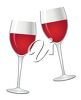 Two Glasses Containing Red Wine clipart